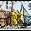 Britain Fishing Industry Postage Stamp — Stock Photo