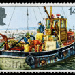 Britain Fishing Industry Postage Stamp — Stock Photo #22808336