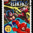 United States Elektra Superhero Postage Stamp - Stock Photo