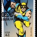 Постер, плакат: United States Wolverine Superhero Postage Stamp