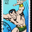 Stock Photo: United States Sub Mariner Superhero Postage Stamp