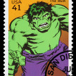 Stock Photo: United States Incredible Hulk Superhero Postage Stamp