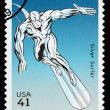 United States Silver Surfer Superhero Postage Stamp — Stock Photo #22809654