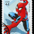 Stock Photo: United States Spider MSuperhero Postage Stamp