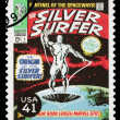 Stock Photo: United States Silver Surfer Superhero Postage Stamp