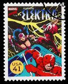 United States Elektra Superhero Postage Stamp — Stock Photo