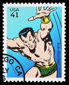 United States Sub Mariner Superhero Postage Stamp — Stock Photo