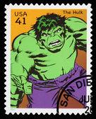 Usa der unglaubliche hulk-superhelden-briefmarke — Stockfoto