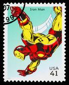 Estados unidos hierro hombre superhéroe estampilla — Foto de Stock