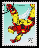 United States Iron Man Superhero Postage Stamp — Stock Photo
