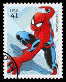 United States Spider Man Superhero Postage Stamp — Stock Photo