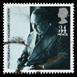 Britain Alfred Hitchcock Postage Stamp — Stock Photo