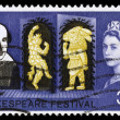 Britain William Shakespeare Postage Stamp - Stock Photo