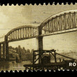 Britain Royal Albert Bridge Postage Stamp - Stock Photo