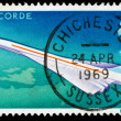 Britain Concorde Postage Stamp — Stock Photo