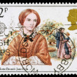 Britain Charlotte Bronte Postage Stamp — Stock Photo