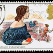 Britain Emily Bronte Postage Stamp — Stock Photo