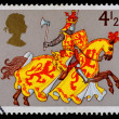 Britain Medievil Warrior Postage Stamp — Stock Photo