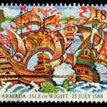 Britain Spanish Armada Postage Stamp — Stock Photo #23067252