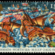 Britain Spanish Armada Postage Stamp — Stock Photo