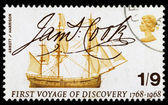 Britain Captain Cook Postage Stamp — Stock Photo