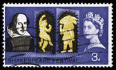 Britain William Shakespeare Postage Stamp — Stock Photo