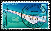 Britain Concorde Postage Stamp — Zdjęcie stockowe