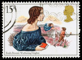 Britain Emily Bronte Postage Stamp — Stock fotografie