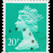 Britain Queen Elizabeth 2nd Postage Stamp — 图库照片 #26715491