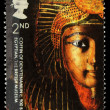 Britain Egyptian Coffin Postage Stamp — Stock Photo