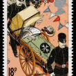 Britain St John Ambulance Postage Stamp — Stock Photo