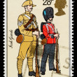 Britain Army Uniforms Postage Stamp — Stock Photo