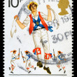 Britain Morris Dancing Postage Stamp — Stock Photo