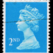 Stock Photo: Britain Queen Elizabeth 2nd Postage Stamp