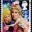 Foto Stock: Christmas Postage Stamp