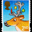 图库照片: Christmas Postage Stamp