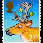 圣诞邮票 — 图库照片