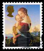 Christmas Postage Stamp — Stock Photo
