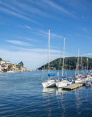 Yachts Moored at Dartmouth, England — Stock Photo