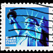 United States Statue of Liberty Postage Stamp — Stock Photo