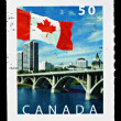 CanadFlag Postage Stamp — Stock Photo #39065305