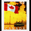CanadFlag Postage Stamp — Stock Photo #39065387