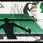 Britain Table Tennis Postage Stamp — Stock Photo