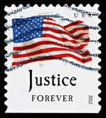 United States Flag Postage Stamp — Stock Photo