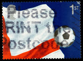 Britain Football Postage Stamp — Stock Photo