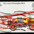 BritainFire Engine Postage Stamp — Stock Photo