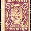 Russia. Vintage postage stamp. Belozerskaya Zemstvo mail. — Stock Photo