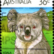 Australia postage stamp. Koala. — Stock Photo