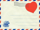 Collage, a love letter. Vintage postcard. — Stockfoto