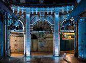Night, to enter the market Muristan. — Stock Photo
